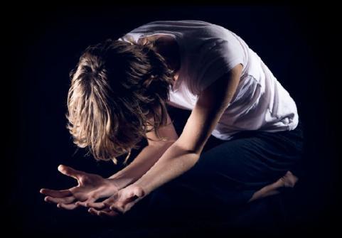 kneeling in pain