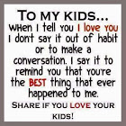 Love your children